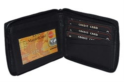 Picture of Men's All Around Zipper Wallet With Flap.